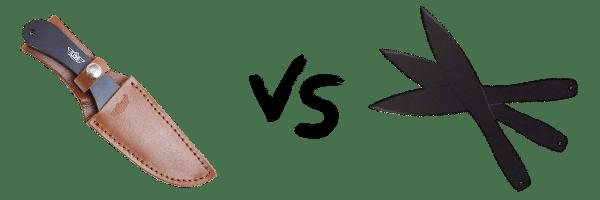 Cold Steel 12 Inch vs Uzi Throwing Knife