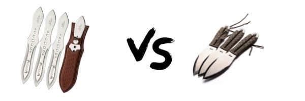 Gil Hibben Competition vs SOG Fling Throwing Knife