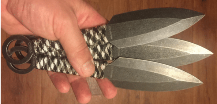 kershaw ion throwing knives
